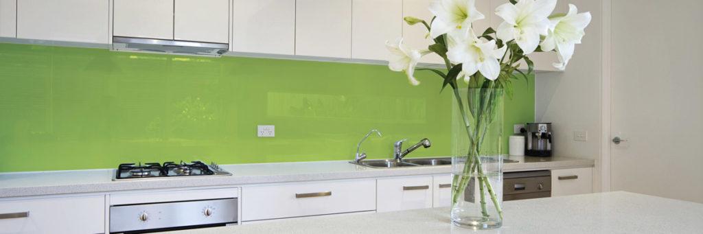 Küchenrückwand Fliesenspiegel grün