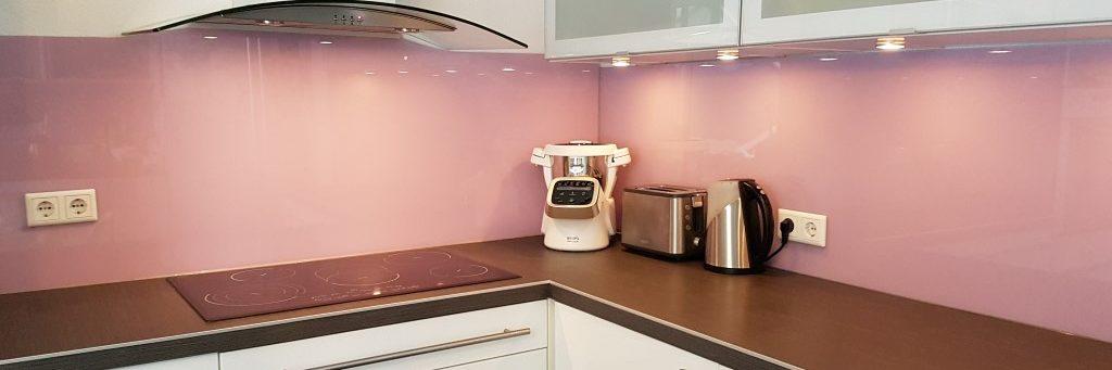 lacktiertes Glas Küche alt rosa