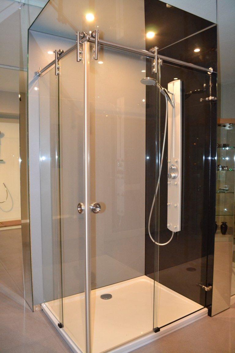 Lackierte Dusche