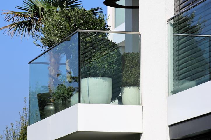Glasabtrennung Balkon
