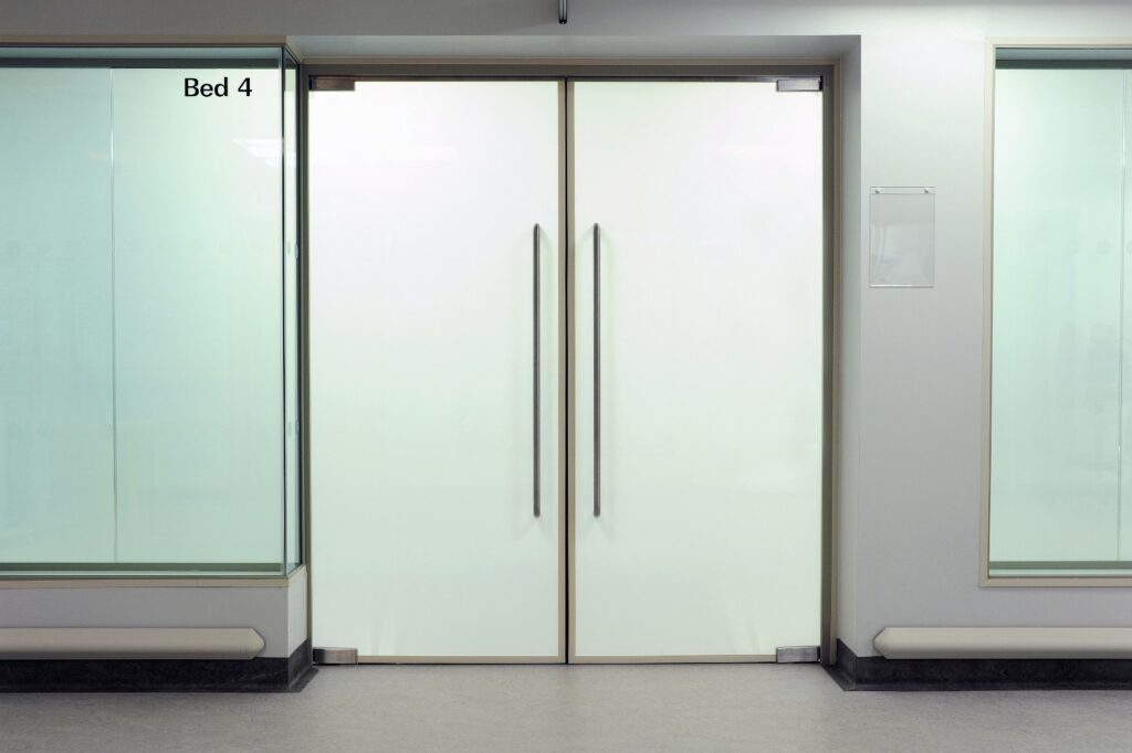 SmartGlass Türe unsichtbar
